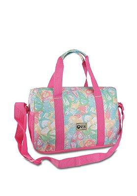 Bolsa De Viagem/Academia/Maternidade, Rosa e Azul  Republic Vix 28007