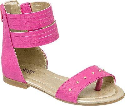 Sandália Infantil Klin Suami Gladiadora Pink 0050