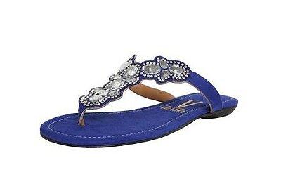 2ddc4908ed Sandália Rasteira Vizzano Hotfix azul jeans preto - Alencar Calçados ...