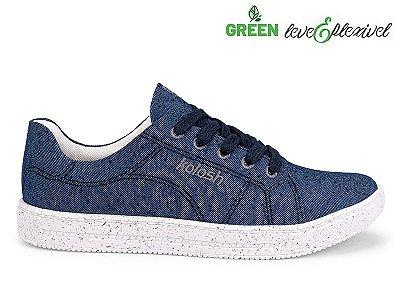 Tênis Casual Sportstyle Tecido Kolosh Verde & Azul & Preto C1638