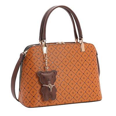 Bolsa Chenson Chic Monograma Shine Caramelo 3483048