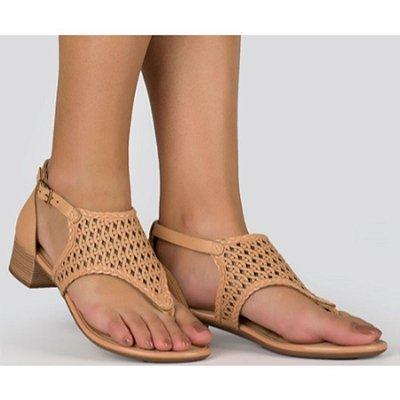 Sandália Salto Grosso Feminino Dakota Nude Z5393