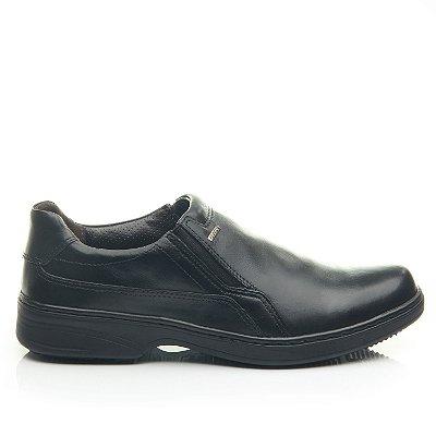 Sapato Social Masculino De Couro Pegada Preto 21206-1