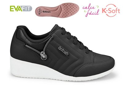 Tênis Anabela Thurso Black K-soft Kolosh Preto C1806