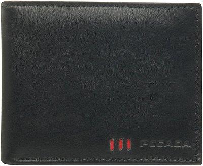 Carteira Masculina De Couro Pegada Preto 3829-05