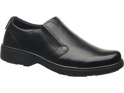 Sapato Social Masculino Couro Pegada Preto 121272-01