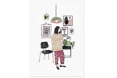 Sala de estar - Ilustração Original