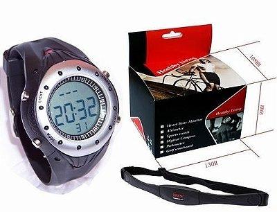 Pedometro + Relógio Monitor Cardíaco Morefitness WP-115