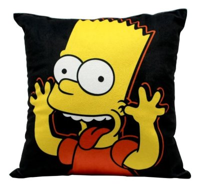 Almofada Bart - Os Simpsons - 25X25CM - Zona Criativa