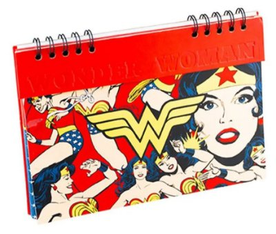 Planner Anual Wonder Woman Core Gold Logo Vermelho - Urban