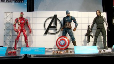 Civil War - Iron Man - Captain America - Winter Soldier - Marvel Select - Diamond Select Toys