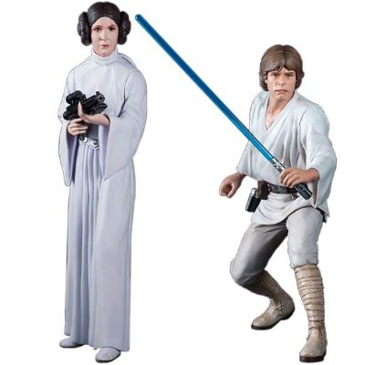 Luke Skywalker e Princess Leia - Star Wars - ArtFx Statue - Kotobukiya