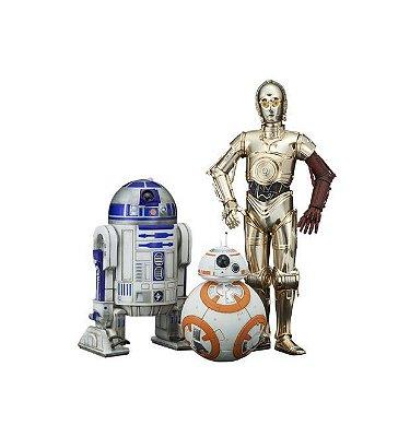 R2-D2 e C3PO, BB-8 - ArtFX Statue - Kotobukiya - Star Wars