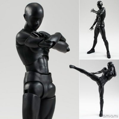 Body Kun Man - Solid Black Color Ver. - S.H. Figuarts - Bandai