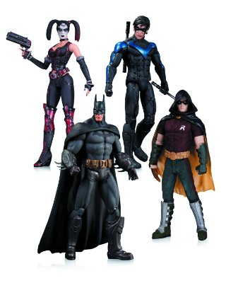 Batman Arkhan City - Batman, Harley Quinn, Nightwing & Robin (4 Pack) - Dc Collectibles