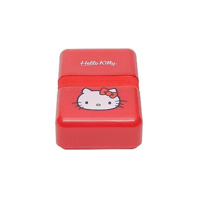 Marmita Fit Plástica HK Face Vermelha - 18 x 12 x 5,5 cm - 800 ml - 750 gr - Hello Kitty