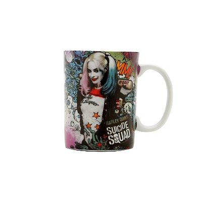 Mini Caneca de Porcelana WB SQ Harley Quinn Colorida 9,5 x 8 x 6 cm - 135 ml - Suicide Squad