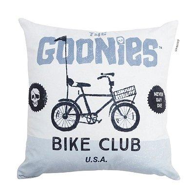 Capa de Almofada em Poliéster WB Goo Bike Club FD Branco/Azul - 45 x 45 cm - Goonies
