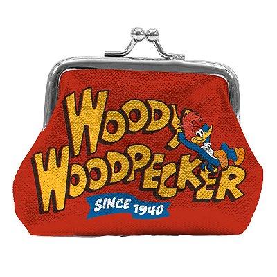 Porta Moedas UVL WP Big Woody Woodpecker FD Vermelho - 10 x 2,2 x 8,2 cm - Pica Pau