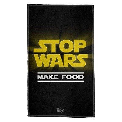 Pano Decorativo Multiuso Stop Wars Make Food - Yaay