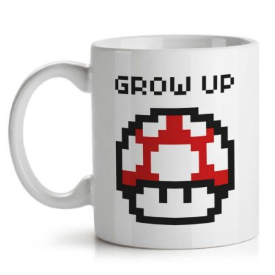 Caneca Cogumelo Pixel Grow Up - Yaay