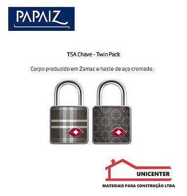 Cadeado Papaiz Travel Tsc C/chave 2pçs