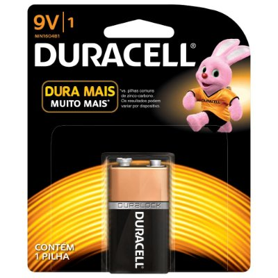 Pilha Bateria Duracell 9V