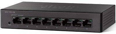 Switch Cisco 8 Portas Gigabit Não Gerenciável 110 Séries SG110D-08-NA