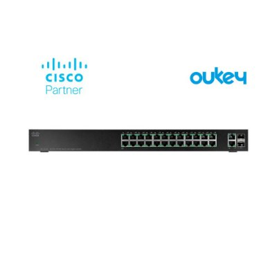 Switch Cisco 26 Portas Gigabit Smart SG220-26