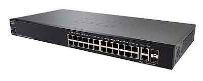 Switch Cisco 24 Portas Gigabit + 2 Portas SFP SG250-26-K9-BR