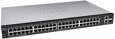 Switch Cisco 48 Portas Gigabit (2 Portas Gigabit Combo RJ45 ou SFP 1G) SG250-50-K9-BR
