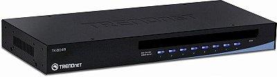 Chaveador KVM Trendnet 8 Portas USB Versão Rack Empilhável TK-804R