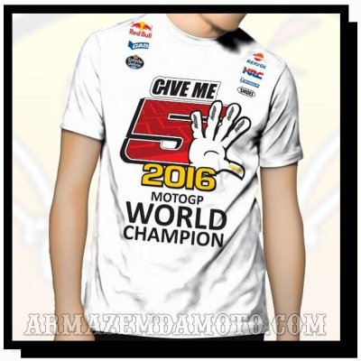 CAMISETA MARC MARQUEZ GIVE ME 5 MOTO GP