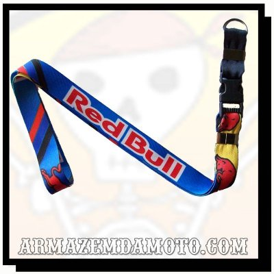 CHAVEIRO MOTO KEY HOLDER COM ENGATE RÁPIDO -  RED BULL