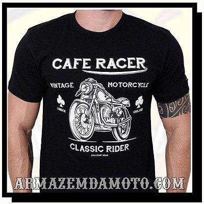 CAMISETA CAFE RACER MOTO VINTAGE CLASSIC RIDER