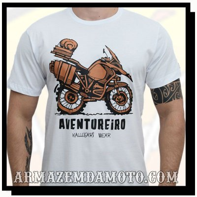 CAMISETA AVENTUREIRO MOTO BIG TRAIL