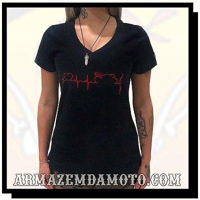 CAMISETA FEMININA HEARTBEAT