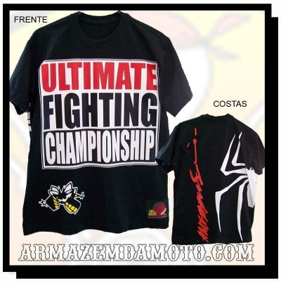 CAMISETA UFC SPIDER ANDERSON SILVA MMA BRASIL
