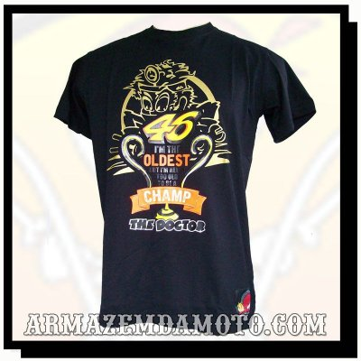 CAMISETA VALENTINO ROSSI THE DOCTOR RACING LIGHT OLDEST