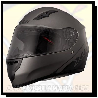 CAPACETE X11 TRUST SOLIDES CHUMBO METÁLICO