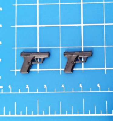 Miniatura Revolver Pistola p/ Action Figures Escala 1:12 Figuarts figma Mafex Revoltech