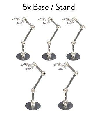 5x Base Stand Multidirecional Action Suporte Figuarts Figma Legends