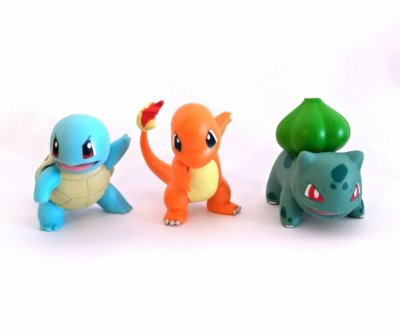 Squirtle + Charmander + Bulbasaur Pokémon Wct Figure