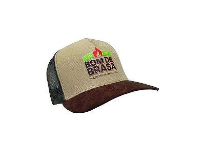 """Boné Bom de Brasa estilo """"caminhoneiro"""" militar"""