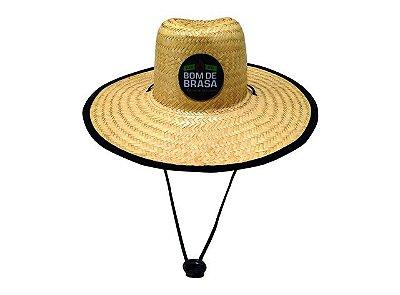 Chapéu de Palha Straw Hat Bom de Brasa estilo sombreiro