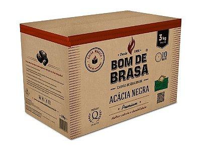 Caixa Mágica - Carvão Fácil de Acender - Acácia Negra 3 Kg - Sob Demanda.