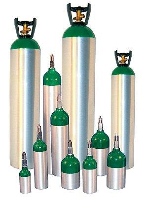 Cilindro de Alumínio de Oxigênio 3 Litros Modelo MD