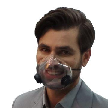 Máscara para proteção COVID-19 com filtro de carvão ativado - Tamanho M