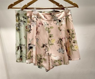 SHORTS  JULIA FLORAL  ROSE E VERDE
