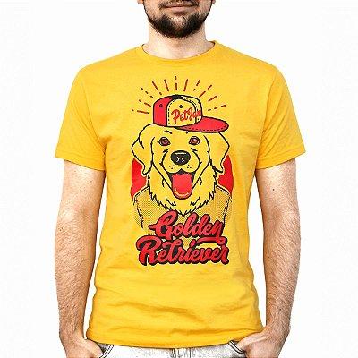 Camiseta masculina Golden Retriever
